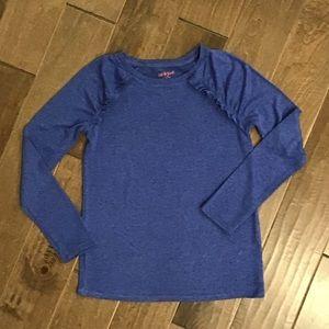 Cat & Jack heather blue long sleeve top